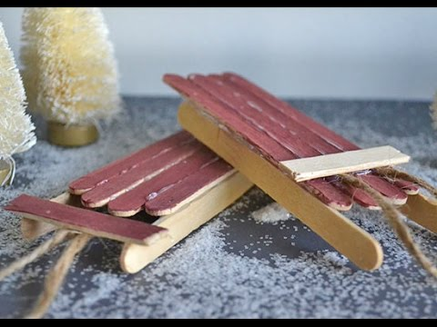 Lollipop Stick Christmas Decorations.How To Make Popsicle Stick Christmas Sleigh Ornaments