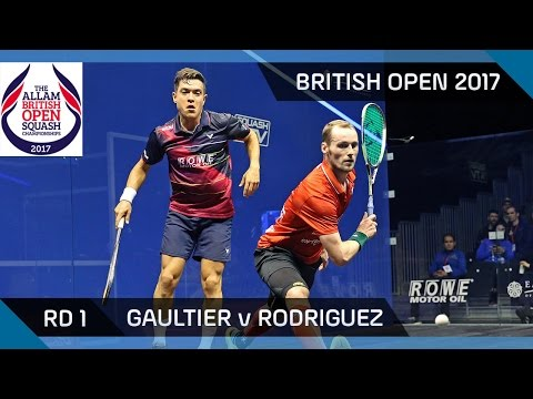 Squash: Gaultier v Rodriguez - British Open 2017 Rd 1 Highlights