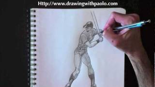 Drawing a Baseball Batter with Paolo Morrone