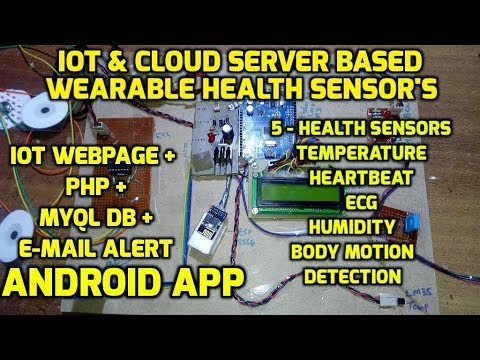 IoT and Cloud Server Based Wearable Health Sensor's Monitoring System