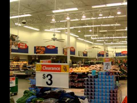 Ceiling Fans In A Walmart Produce Section Circa 2008 Youtube