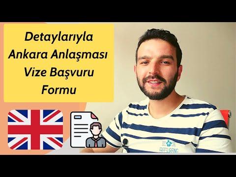 Ankara Antlaşması Vize Başvuru Formu Nasıl Doldurulur? - 2020 - İngiltere iş kurma vizesi 🇬🇧😉