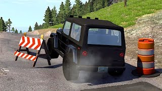Uneven Road Surface Crashes! Cars Uncontrollable! #1 (BeamNG Drive)