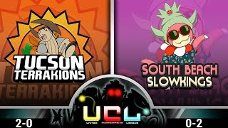 Pokémon ORAS LIVE Wi-Fi Battle [UCL S1W3] Tucson Terrakions vs South Beach Slowkings