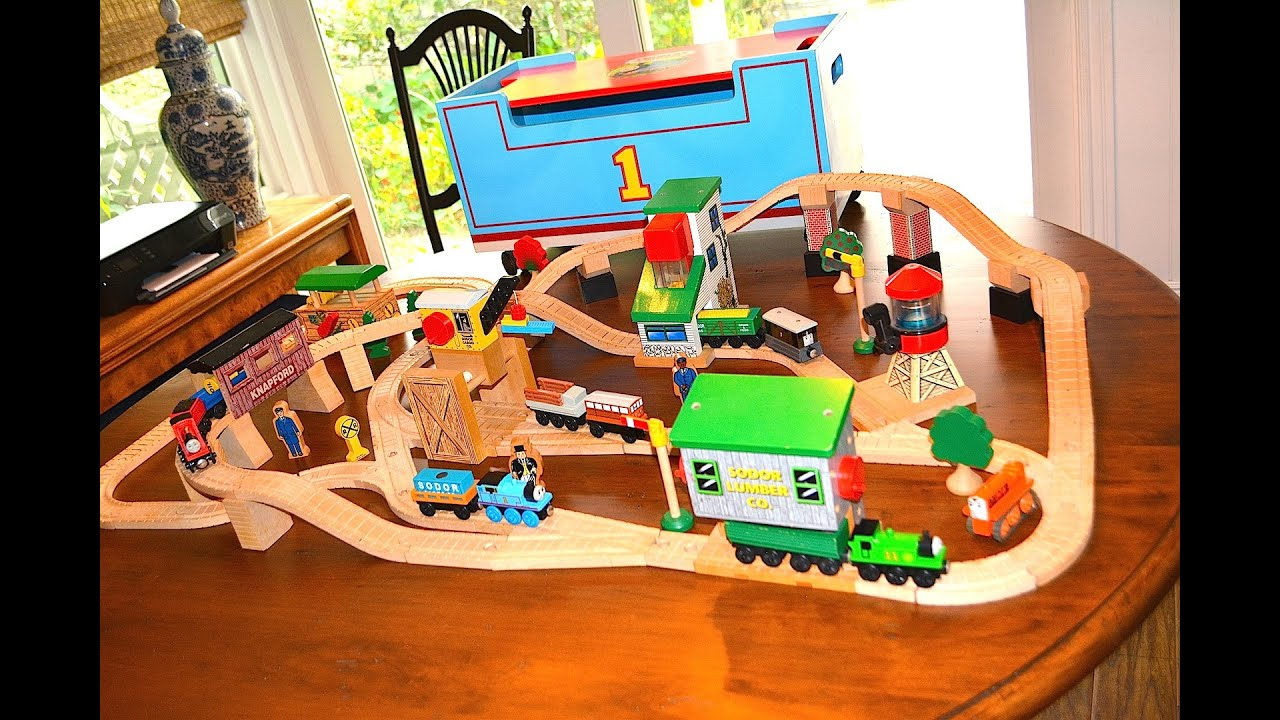 Thomas And Friends Lift And Load Set Rare Wooden Railway