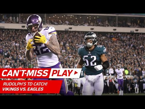 Keenum Hits Rudolph for TD & Celebrates w/ Olympic Curling! | Can't-Miss Play | NFC Championship HLs