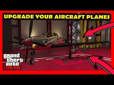GTA 5 How To Upgrade Your Aircraft Planes Online (Smuggler's Run DLC)