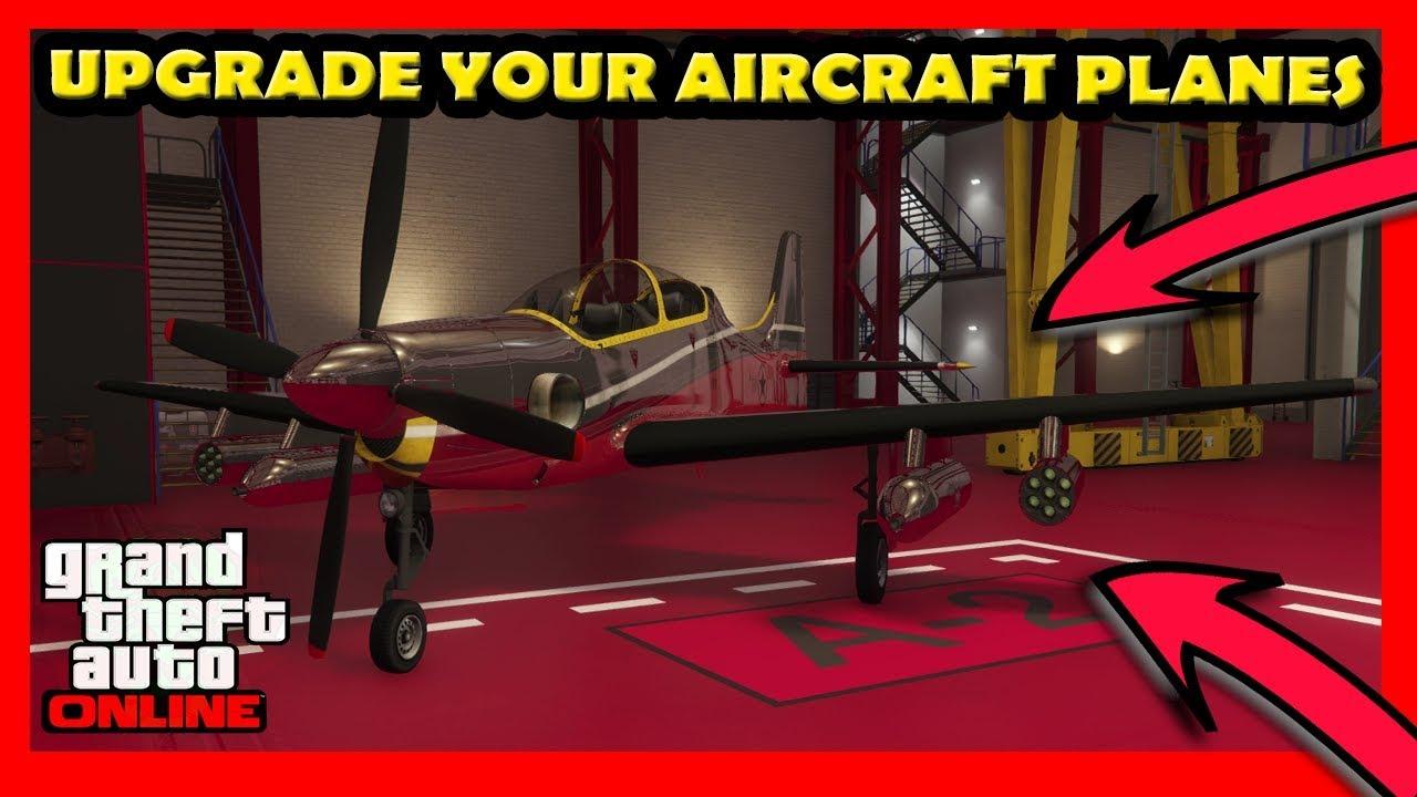 GTA 5 How To Upgrade Your Aircraft Planes Online (Smuggler's Run DLC)