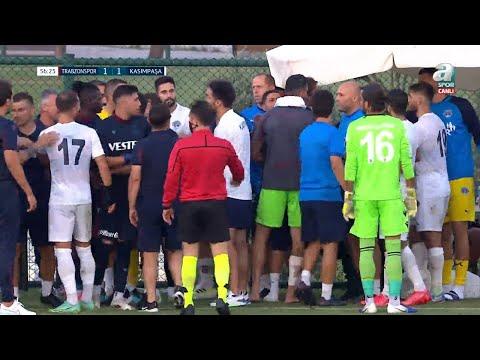 Trabzonspor-Kasımpaşa Maçında Kavga Çıktı! Hazırlık Maçı | 26.07.2021