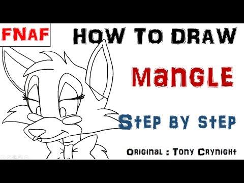Comment dessiner Mangle (Original : Tony Crynight) de Fnaf ...
