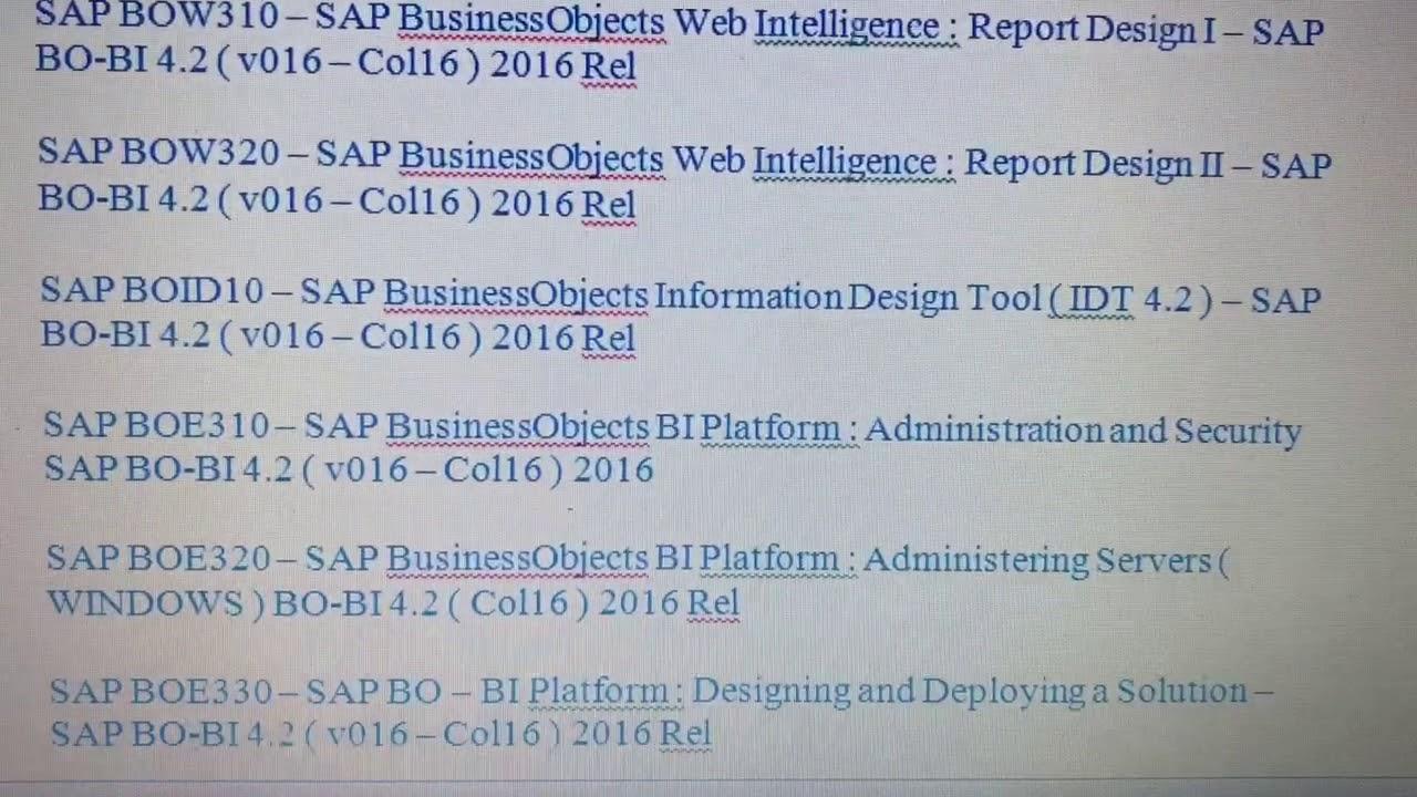 Sap Business Intelligence Pdf