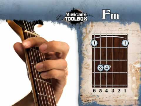 How to play the Fm barre chord on guitar Fm bar chord - YouTube