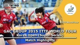 Korea Open 2015 Highlights: HWANG Jina/SEO Hyowon vs HAYATA Hina/SATO Hitomi (1/8)
