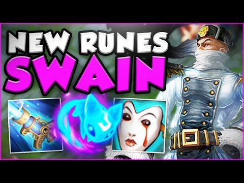 COME ON RIOT!! NEW SWAIN HAS UNLIMITED MANA?! NEW SWAIN TOP