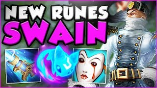COME ON RIOT!! NEW SWAIN HAS UNLIMITED MANA?! NEW SWAIN TOP SEASON 8 GAMEPLAY! - League of Legends