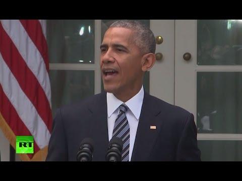 Obama speaks on US presidential election results (Streamed live)