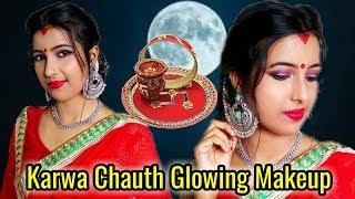 How To Create Karwa Chauth Glowing Makeup    Festive Makeup Look