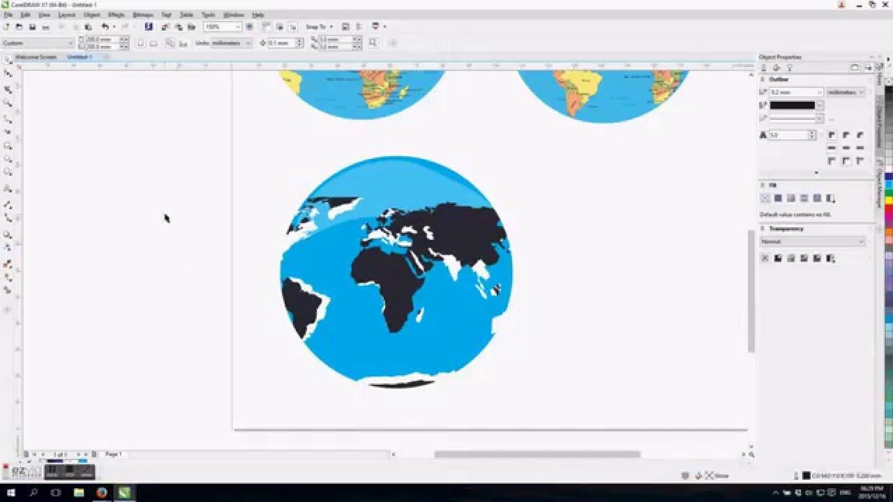 Coreldraw tutorial world globe design youtube gumiabroncs Image collections