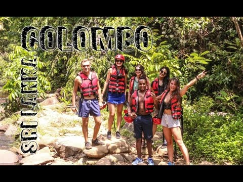 Water rafting and canyoning in Colombo (Sri Lanka) | Travel Vlog #36