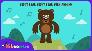 Teddy Bear Teddy Bear Turn Around  Circle Time Song for Preschool  The Kiboomers