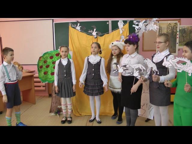 Изображение предпросмотра прочтения – «Учащиеся 4 Б класса» читают отрывок изпроизведения «Сказка о Пете, толстом ребенке, и о Симе, который тонкий» В.В.Маяковского