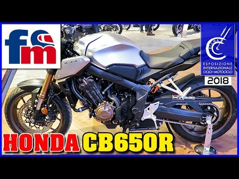 honda cb650r sal n eicma de mil n 2018 youtube. Black Bedroom Furniture Sets. Home Design Ideas