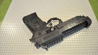 lego brick gun beretta 92fs stop motion