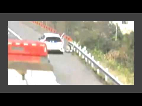 Thumbnail: Man on shoulder hit off road by rolling wheel falling off truck