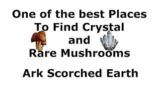 Ark Scorched Earth - One of the Best places to get crystal and Rare Mushrooms