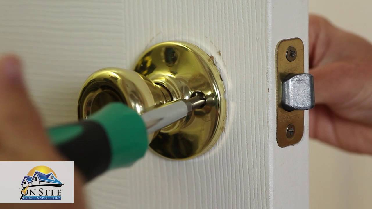 How To how to fix a door knob latch pics How to Fix a Stuck Door Latch - YouTube