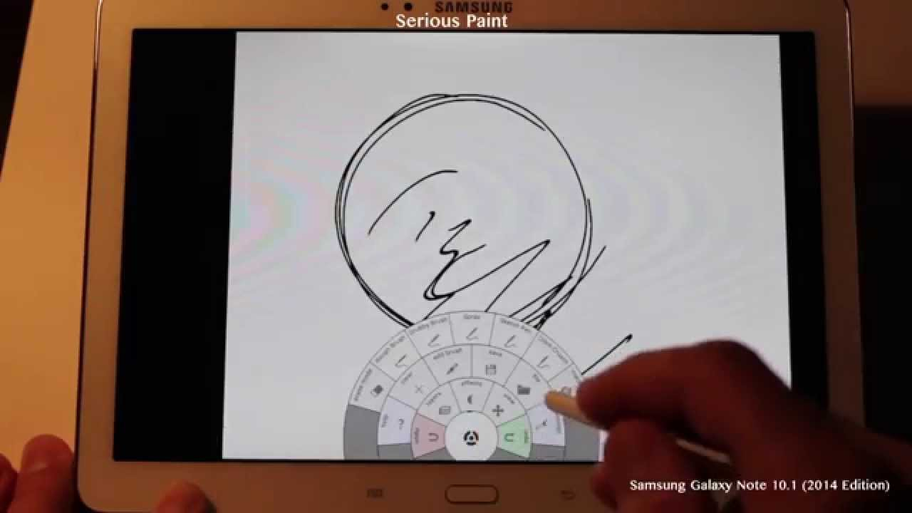 Serious Paint drawing app test on Samsung Galaxy Note 10 1 (2014 Edition)