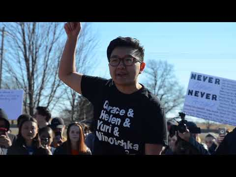 3/14 Walkout: Senior Kris Cho's speech in front of RBHS