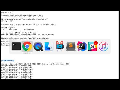 BigQuery load csv to table using command line - YouTube