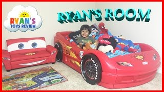 Ryan's Room Tour Disney Pixar Cars Lightning McQueen Theme Bedroom thumbnail
