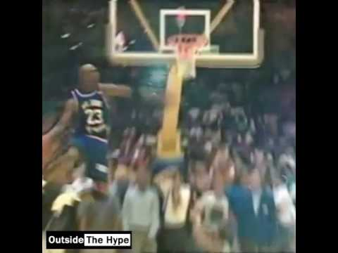 **RARE** MICHAEL JORDAN CHARITY GAME DUNK.....PROOF HE COULD REALLY
