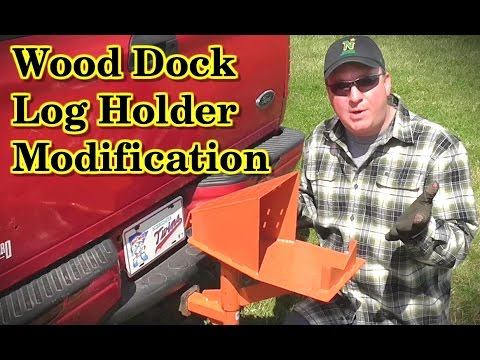 Wood Dock Log Holder Modification- Mfd by Vincent Products ...