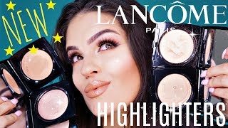 NEW LANCOME DUAL FINISH HIGHLIGHTERS REVIEW & FIRST IMPRESSION & SWATCHES | Julia Salvia