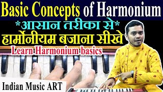 First basic lesson Harmonium for beginners हार्म�...