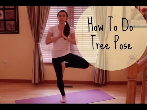 how to vrksasana  tree pose  basic yoga poses