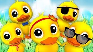 Lima bebek kecil sajak | Lagu Anak | lagu bayi | Five Little Ducks | Farmees Indonesia