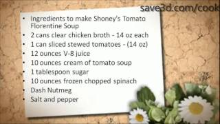 Secret Recipe - How To Make Shoney's Tomato Florentine Soup (copycat Recipes)