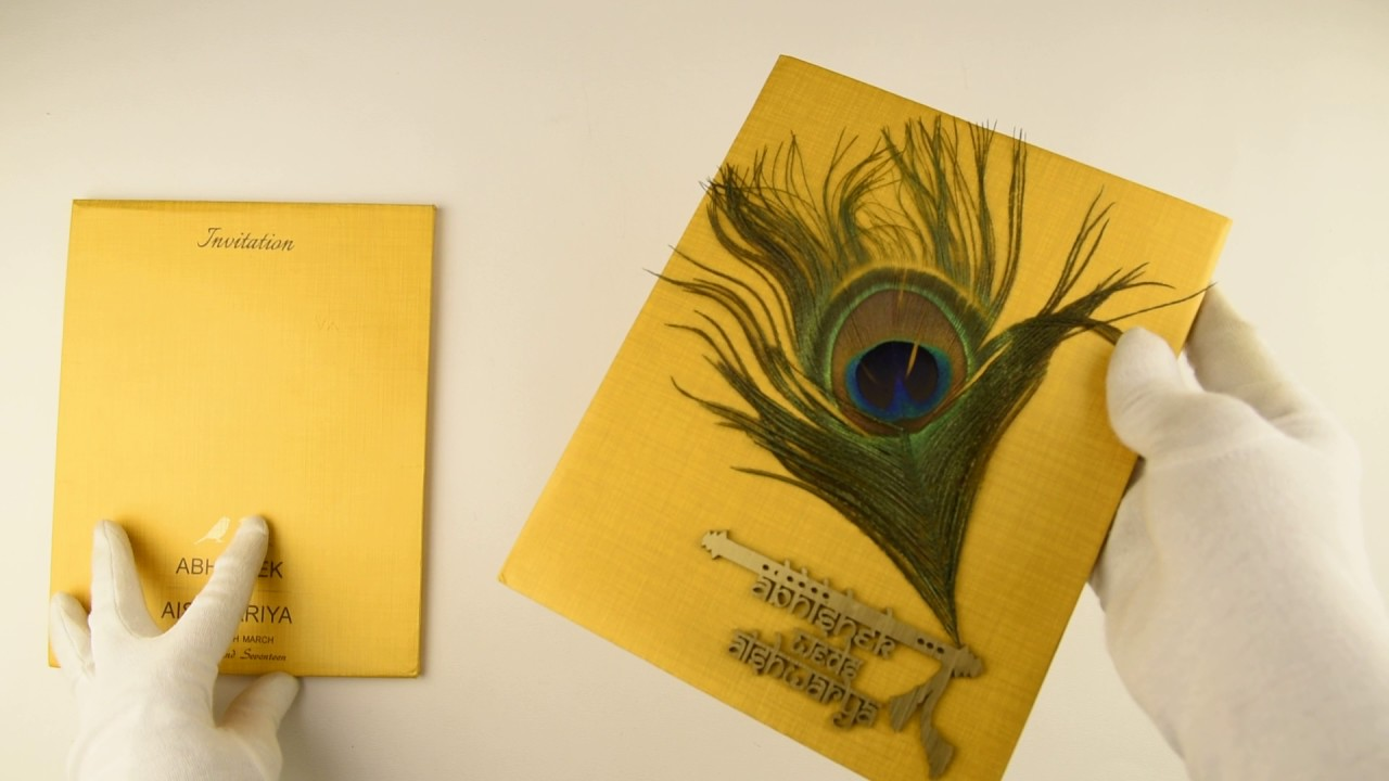 IWRE07, Yellow Color, Hindu Cards, Hindu Wedding Cards, Hindu ...
