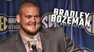 Alabama OL Bradley Bozeman speaks at SEC Media Days 2017