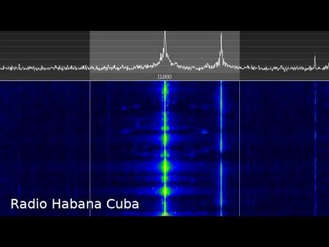 Radio Habana Cuba 11880 kHz w/ Spy Numbers @ 5:30