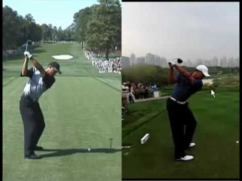 Optimal Coaching Studio Tiger Woods Swing Comparison