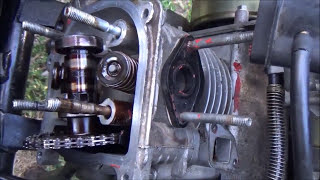 Well that's your problem!bad valve/rocker arms 50cc