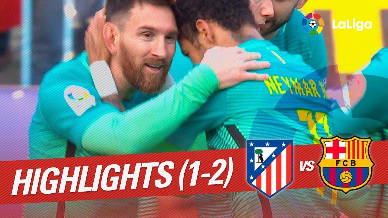 Resumen De Atlético De Madrid Vs Fc Barcelona 1 2 Youtube