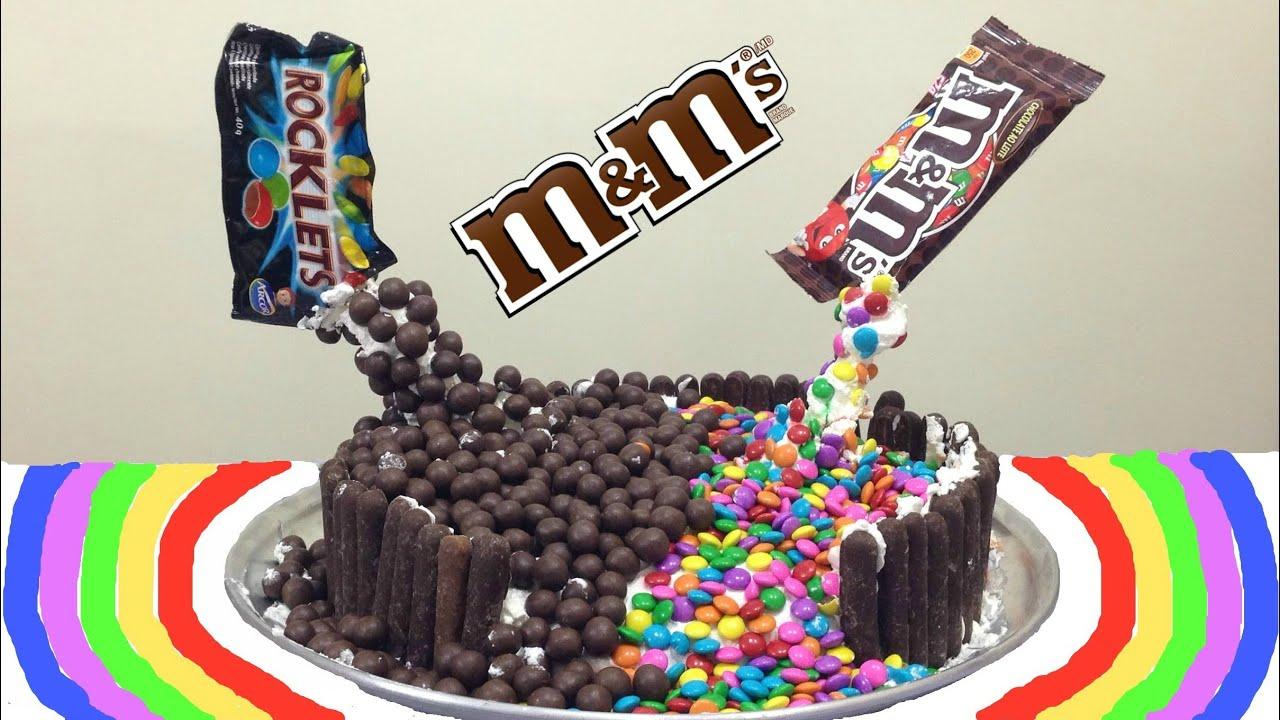 Bolo De Aniversário: Bolo Cascata De M&M (M&M Malteser Cake / Gravity Defying