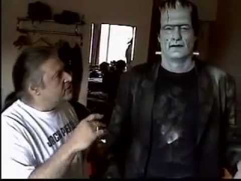 Glenn Strange Frankenstein Makeup application by Ron Chanberlain
