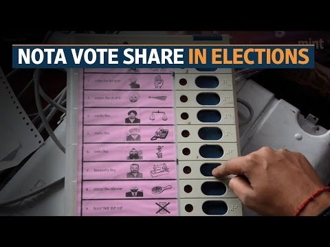 What is Nota in India's electoral parlance?